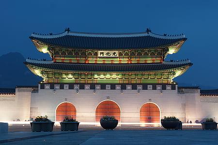 Gwanghwamun, Seül, Palau de Gyeongbok, ciutat prohibida, Xina - Àsia Oriental, Àsia, arquitectura