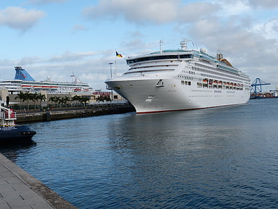 kryssning, kryssningsfartyg, fartyg, kryssningar, havet, hamn, Ocean