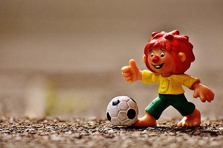 pumuckl, фигура, футбол, Смешно, цветни, деца, играчки