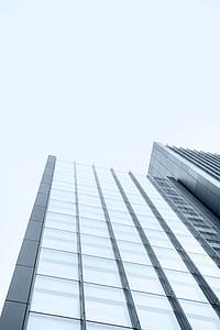 madal, nurk, Fotograafia, kõrge, tõus, hoone, taevas