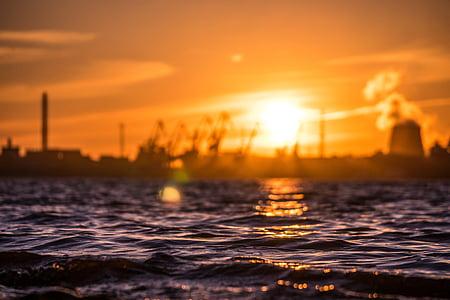 Backlit, Dawn, schemering, Oceaan, zee, zeegezicht, zonsopgang