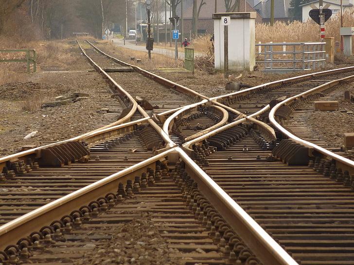 tren, pista, Via fèrria, pistes, carrils, transport, Via del tren