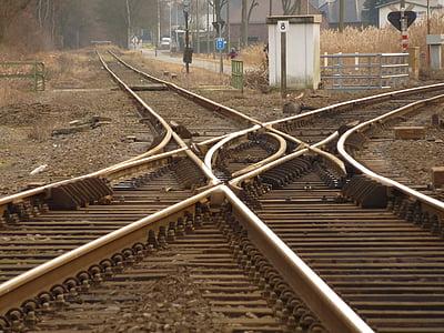 tåg, spår, järnvägen fodrar, spår, Rails, transport, tågspåren