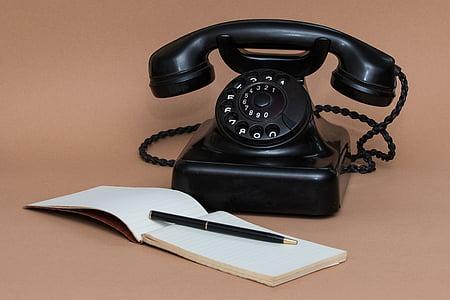 telèfon, comunicació, missatge, xerrada, Nota, telèfon, antiquat