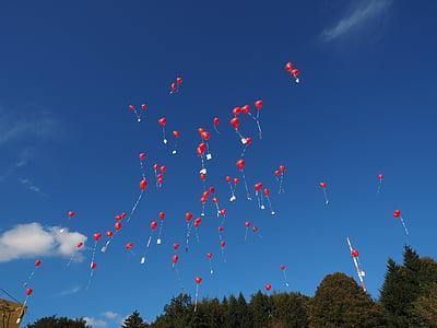 globus, volar, casament, Felicitacions, felicitació, augment, Actualització