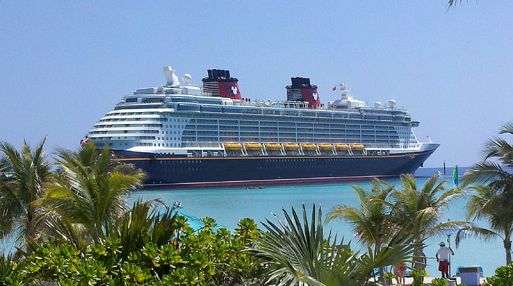 kryssningsfartyg, Disney cruise line, privat ö, Castaway bay, Ocean, havet, resor