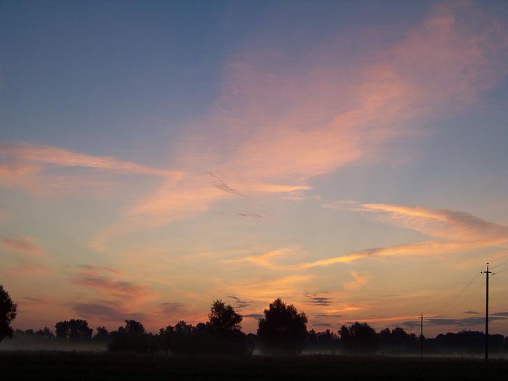 ท้องฟ้า, ท้องฟ้ายามเย็น, พระอาทิตย์ตก, เมฆ