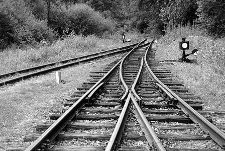 måte, reise, skinnene, tog, jernbanen, jernbanen, jernbane spor