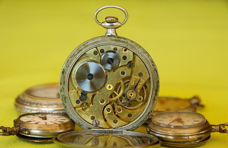 relojes antiguos, reloj, del engranaje