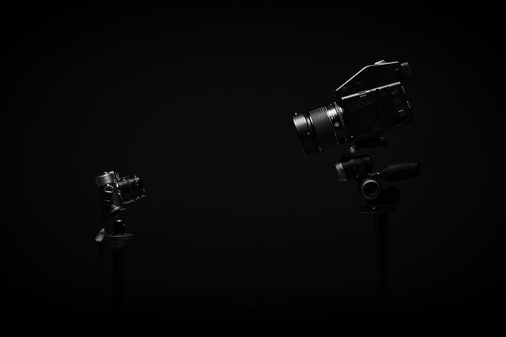 negre, càmera de vídeo, càmeres, fosc, DLSR d, electrònica, lent