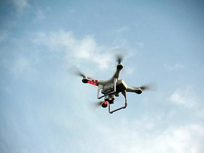 quadricopter, quadrocopter, hèlix, model de, rotor, abellot, volar