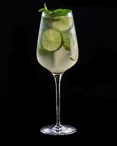suvel juua, kokteil, klaas, Hugo, Tei, roheline, Mint