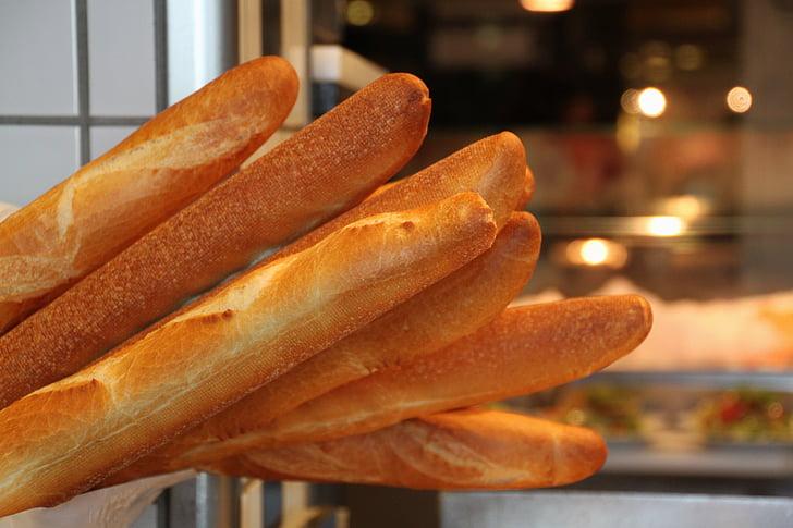 baguette, leib, toidu, süüa, Küpseta, küpsetatud, põhialus