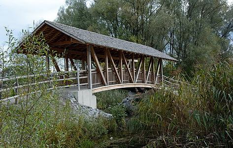 Bridge, tre, trebro, natur, overgang, Web, Boardwalk