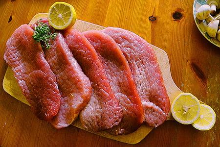 carn, aliments, menjar, Tall de carn, poder, dinar, cuinar