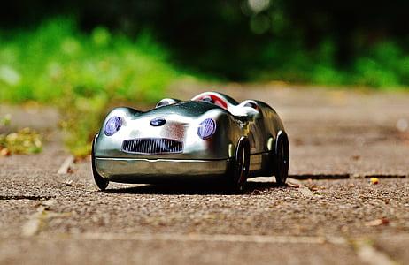 auto, Silver, leht, kasti, võidusõiduauto, ladustamine, cookie jar
