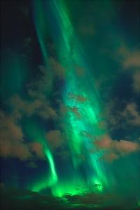 llums del nord, plasma, cel, ambient, Borealis, Aurora, color verd