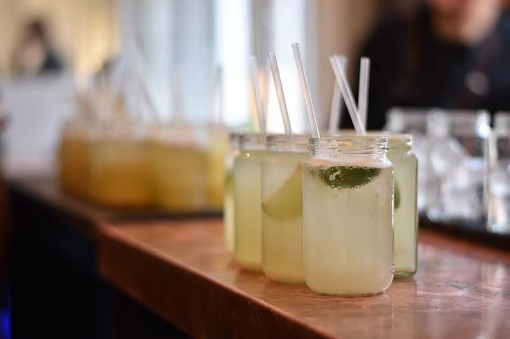 Lime, dryck, sura