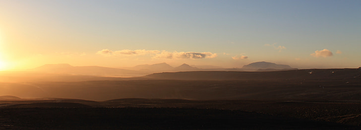 Sunset, mägi, Panorama, taevas, Mountain panorama, kuldne, maastik