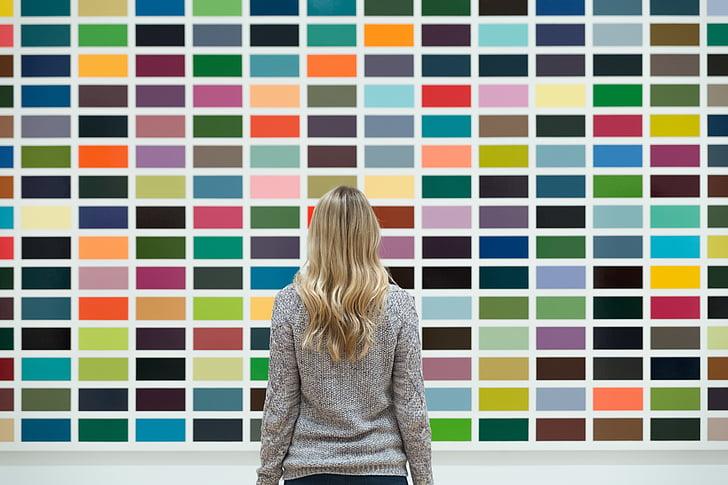kunst, Blond, blonde, fargerike, fargerike, design, mønster