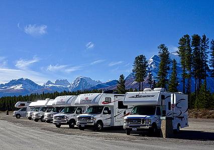 obytný vůz, kempování, cestování, tábořiště, RVing, cestování, rekreační