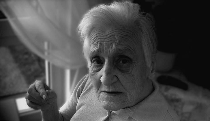 dependents, demència, dona, vell, edat, Alzheimer, casa de retir