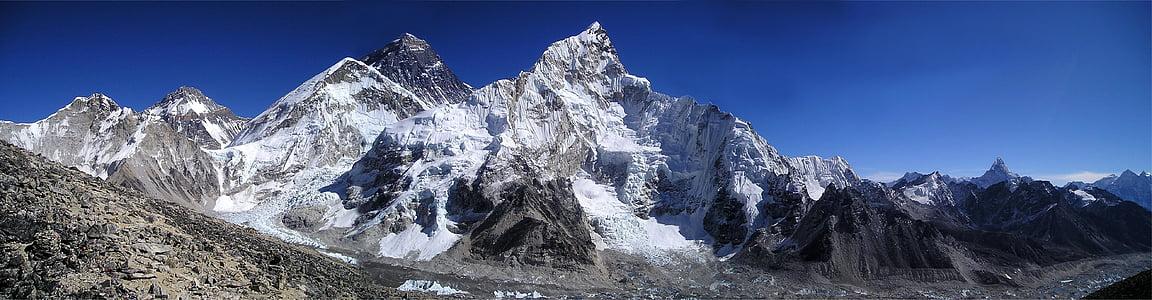 Mount everest, Himalaya, Nuptse, Lhotse, Sagarmatha, qomolangma, Chomolungma