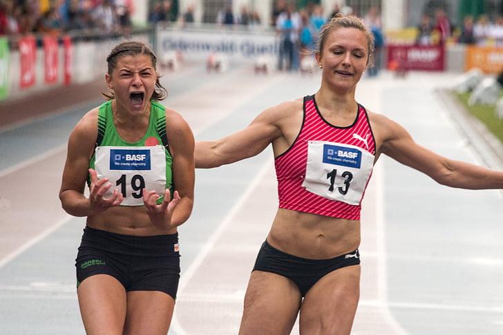 Atletisme, esport, cursa, executar, dones, cursa, carrera