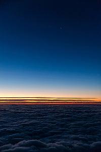 moln, Dawn, skymning, Horisont, Sky, soluppgång, solnedgång