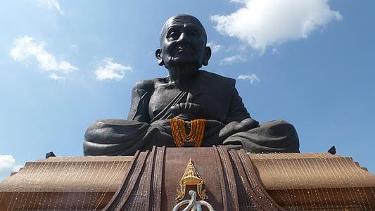 Luang po tuad, Buddha, Buddhismus, Asie, meditovat, meditace, sedící