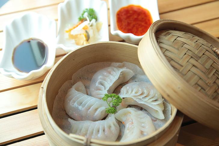 Dimsum, Kuchnia Chińska, Chiński, jedzenie, kuchnia, posiłek, kluska