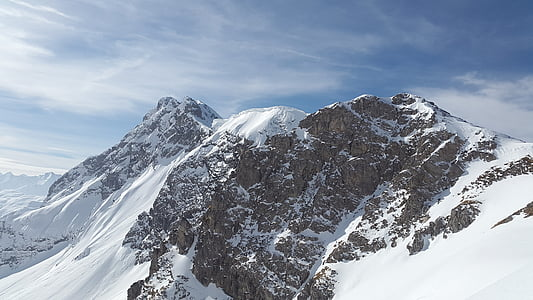 ostry róg, alpejska, góry Tannheimer, góry, Allgäu, szczyt, Rocky