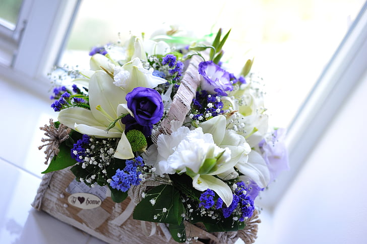 flowers, bouquet, beautiful flowers, flower, summer flowers, basket of flowers