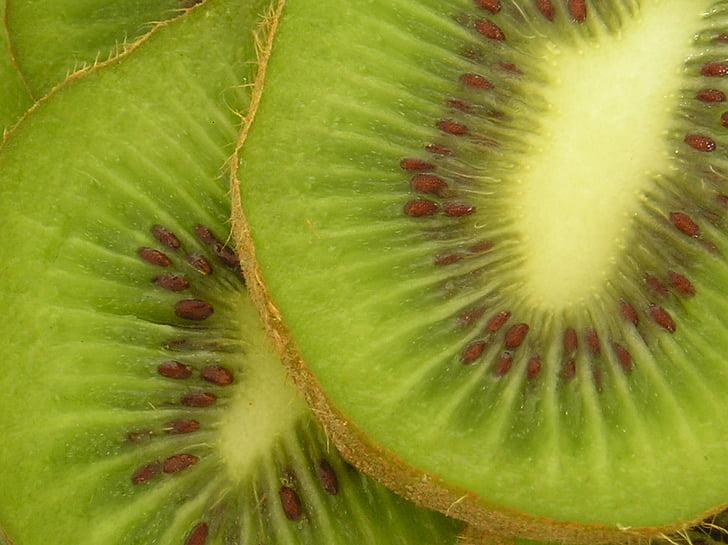 frugt, grøn, natur, Kiwi