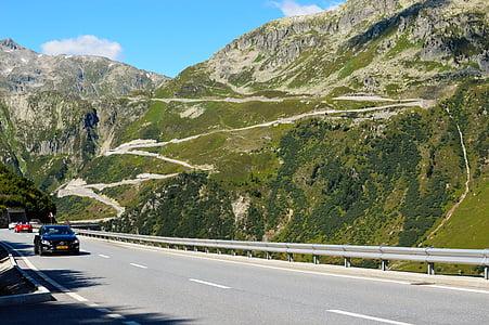 pas de Furka, passar, Alps, viatges, paisatge, alpí, Europa