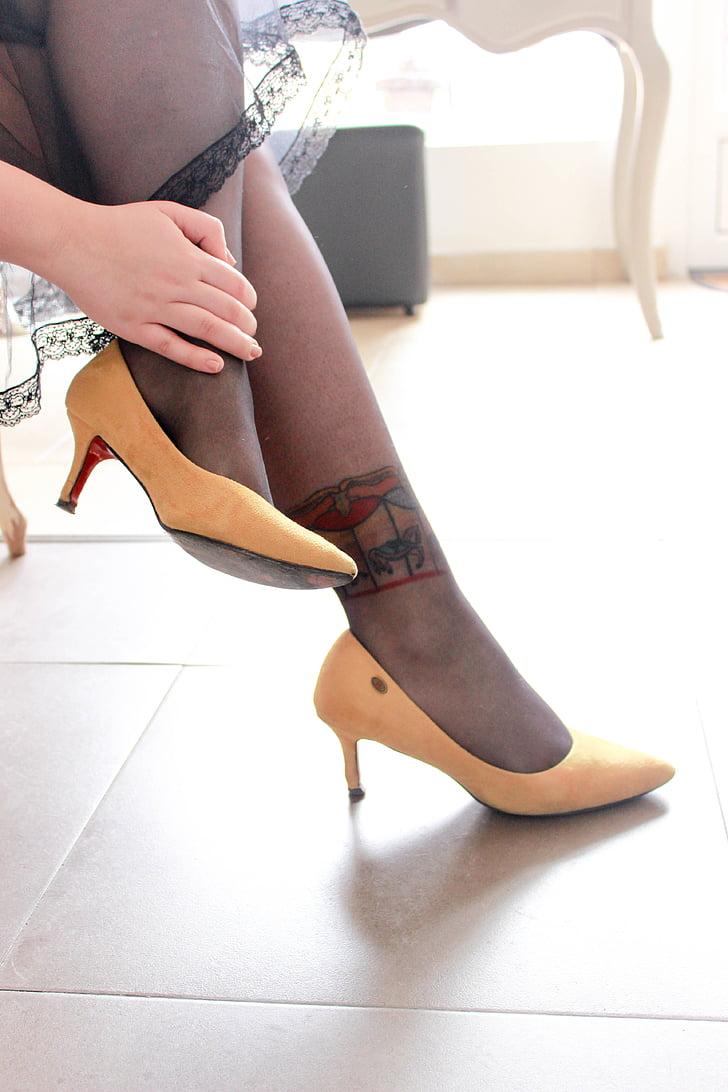 legs, heels, yellow, feet, woman, fashion, luxury