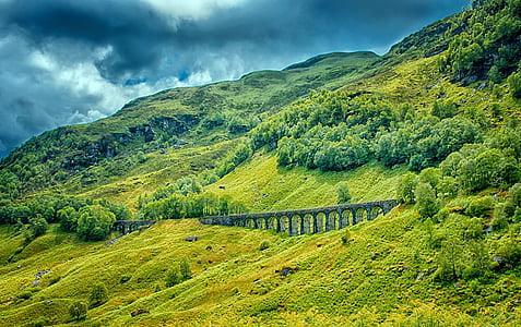 viaduct, bridge, railway bridge, historically, architecture, old bridge, scotland
