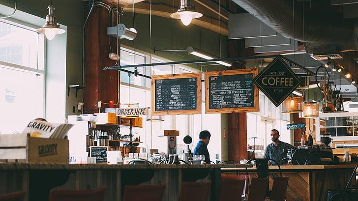 kohvik, Restoran, menüü, kohvi, kohviku interjöör, äri, Baar