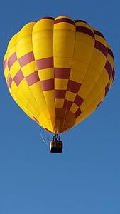 ballonger, varmluftsballonger, Sky, flyg, korg, fluga, flygande