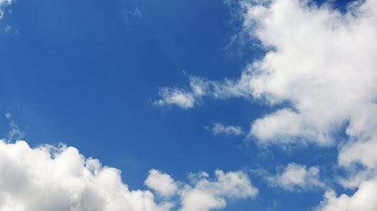 oblaki, nebo, modra, oblaki nebo, modro nebo oblaki, narave, vreme
