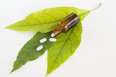 medicinske, drog, medicine, zelena, listov, tablete, farmacevtske