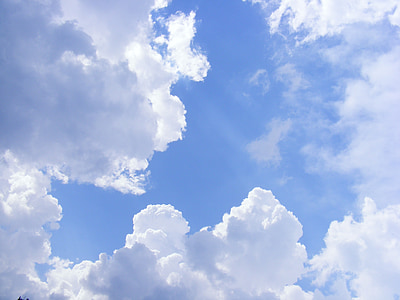 natura, núvols, cels, cel, llapis, raigs