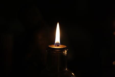 flamme, mørket, mørk, brand, varme, lys, nats søvn