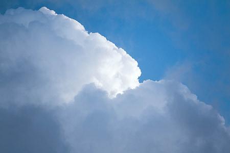 núvols, assolellat, núvols del cel blau, suau i esponjosa, cel de núvols, cel assolellat, llum del sol