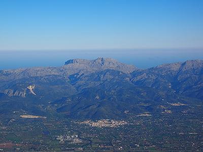 Mallorca, Vista aérea, fotografias aéreas, paisagem, montanhas, Serra de tramuntana, Cordilheira