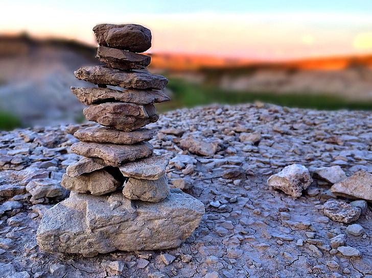 đá, Xếp chồng lên nhau, cân bằng, đá sa thạch