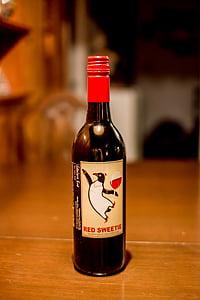 rode wijn, alcohol, dranken, sterke drank, drank, glas, partij