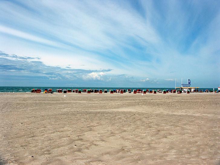 สทาร์ซุนด์, ชายหาด, ทะเลบอลติก, เมฆ, หาดทราย