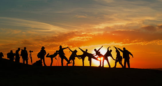 eventyr, baggrundsbelyst, Fællesskabet, Dawn, Dusk, venner, venskab