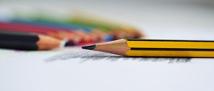 llapis, figura, text, escriptura, llapis, llapis de color, art i artesania